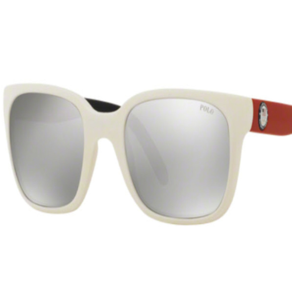 POLO Other - NWT Polo PH 4111 55956G Rubber White Sunglasses